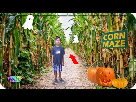 Lost In A Giant Corn Maze!!! Halloween Pumpkin Patch Fun!