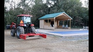 #560 Tractor Work Around Pool House Part 2