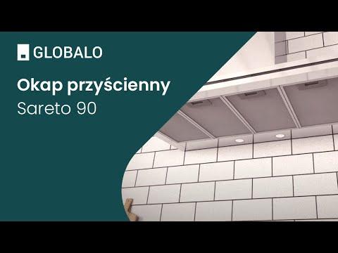 Okap przyścienny GLOBALO Sareto 90.3 | Ciche i wydajne okapy GLOBALO