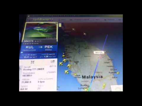 Malaysian Flight 370 Disappears in the Radar (March 8 2014)