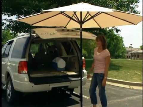 Auto Mo Brella Portable Umbrella Hitch Youtube