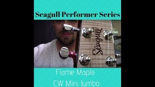 Seagull Flame Maple CW Performer Series Mini Jumbo Guitar Review Specs and Demo