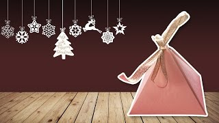 Origami Pyramid Box Tutorial ♥︎ DIY ♥︎ Cute Gift Box ♥︎ | Christmas Gift Ideas!