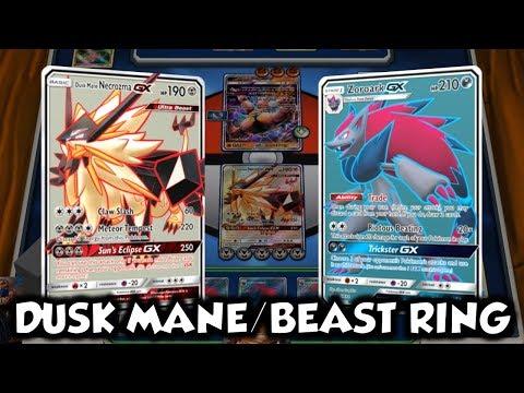 BETTER BEAST RING PARTNER?   Dusk Mane Necrozma GX/Zoroark GX Deck Profile and Battles w TrainerChip