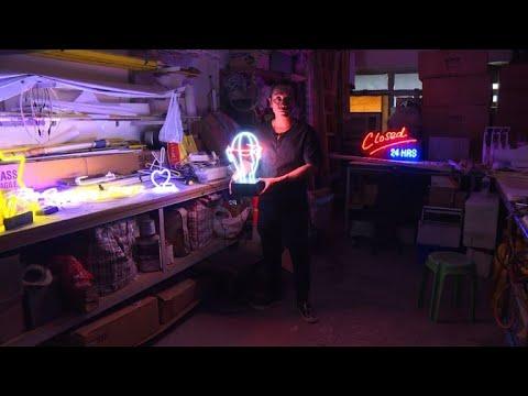 Disappearing jobs: neon sign maker shines bright in Hong Kong