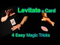 How to Levitate a Playing Card - Four Magic Tricks