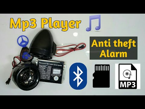 Mp3 player in activa with Bluetooth || anti theft alarm || for all bikes and scooters
