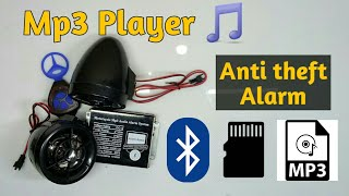 Mp3 player with Bluetooth for all bikes and scooters || anti theft alarm ||