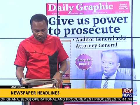 AM Show Newspaper Headlines on JoyNews (6-2-18)