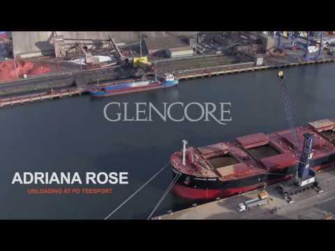 Glencore's Adriana Rose at Teesport UK