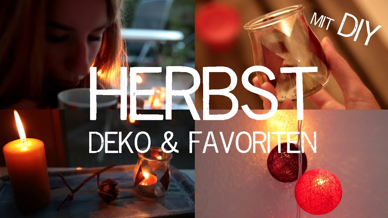 HERBST DEKO & FAVORITEN mit DIY Ideen  kekulo  YouTube
