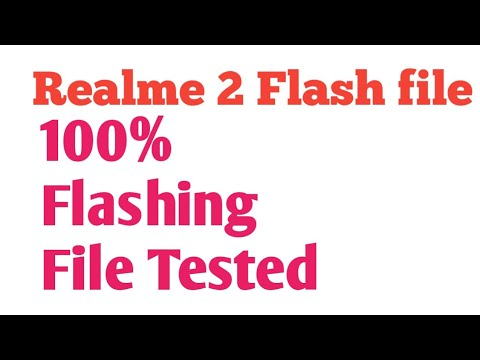 Realme 2 Flashing File 100 %Tested