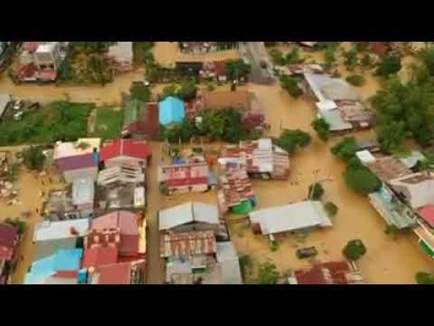 Banjir di Bontang dari ketinggian