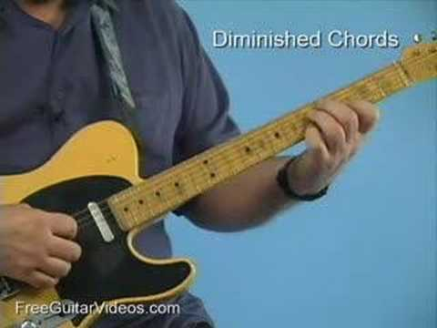 Guitar Lesson Diminished 7th Chords Youtube