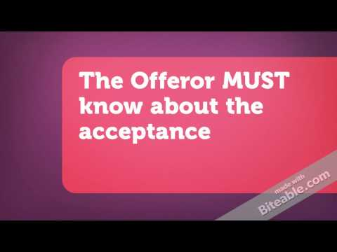 Contract Law For Beginners - Formation of Contracts (Part 3 of 7) Acceptance