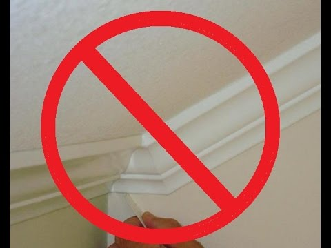 How To Install Crown Molding On A Vaulted Cathedral Ceiling Without Transition Piece Youtube