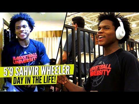 This 5'9 PG Gave Defenders NIGHTMARES! Sahvir Wheeler: Day In The Life On The AAU Circuit!!