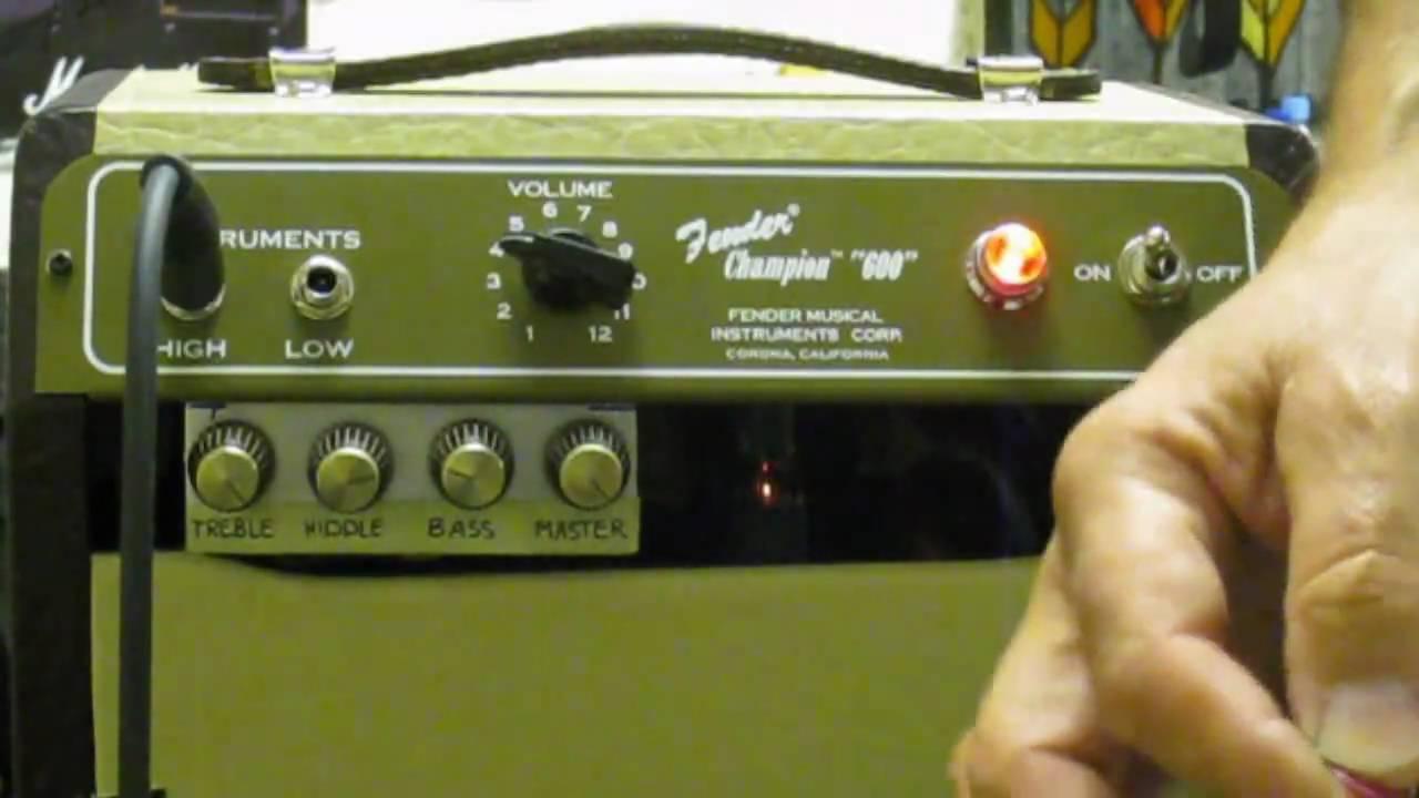 Fender Champion 600 Mod  Mastervolume   Eq
