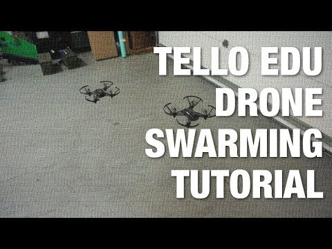 Tello EDU Drone Swarming Tutorial with Packet Sender and Python