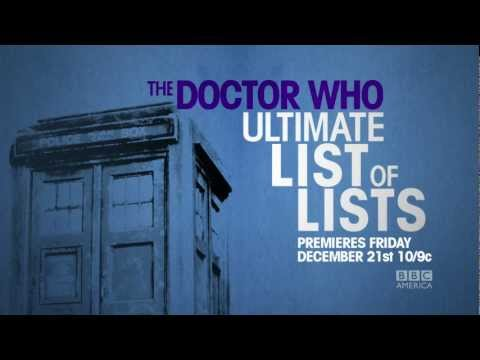 THE BRIT LIST: DOCTOR WHO ULTIMATE LIST OF LISTS w John Barrowman Dec 21 BBC America
