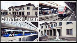 Railway and Bus Station in Uster, Switzerland / Viel los am Bahnhof Uster