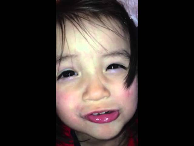 Mitt lilla hjärtebarn Olivia sjunger ut