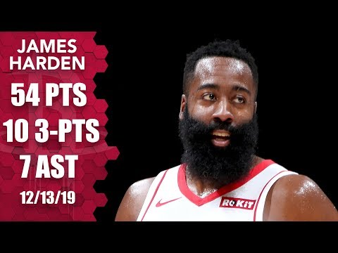 james-harden-scores-50+-points-with-10-3-pointers-for-second-straight-game-|-2019-20-nba-highlights