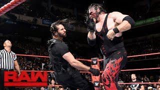 Seth Rollins vs Kane Raw Oct. 2017