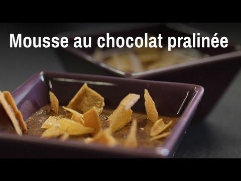 Recette de la mousse au chocolat pralinée