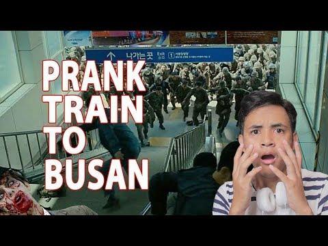 PRANK ZOMBIE TRAIN TO BUSAN - Auto Ngakak