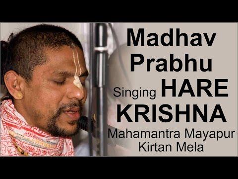 Madhav Prabhu singing Hare Krishna Mahamantra at Mayapur Kirtan Mela   ISKCON