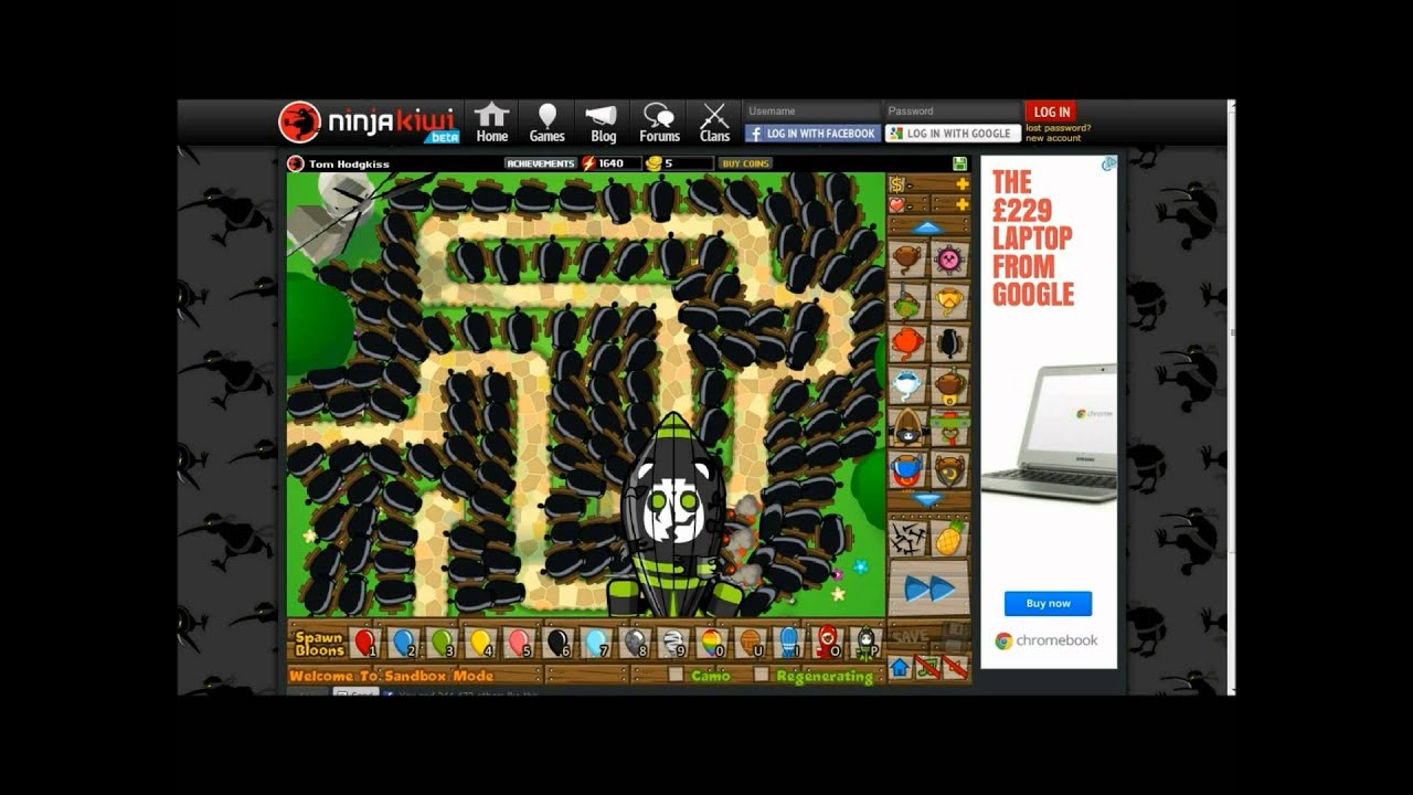 BTD5, Bloons Tower Defense 5, Bomb Tower VS ZOMG - YouTube
