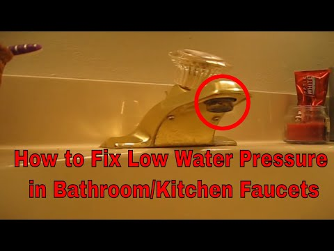 How To Fix Unclog Clean Repair Or Replace Moen Kitchen Bathroom Sink Faucets Aerator