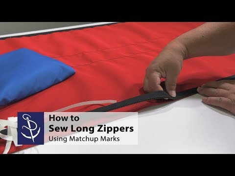 How to Sew Long Zippers Using Matchup Marks