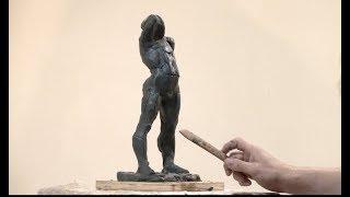 Уроки скульптуры и рисунка: скульптурный этюд фигуры человека, набор массы
