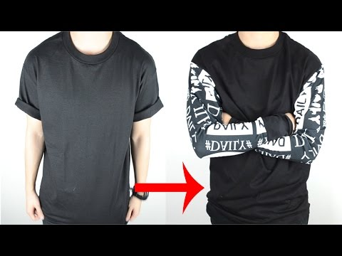 DIY: T-shirt to Long Sleeve Tee Tutorial | KAD Customs #43
