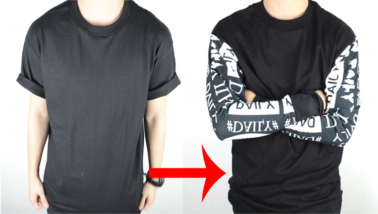 DIY  T-shirt to Long Sleeve Tee Tutorial  9fc4fa0d4cc