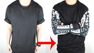 DIY: T-shirt to Long Sleeve Tee Tutorial | KAD Customs #43