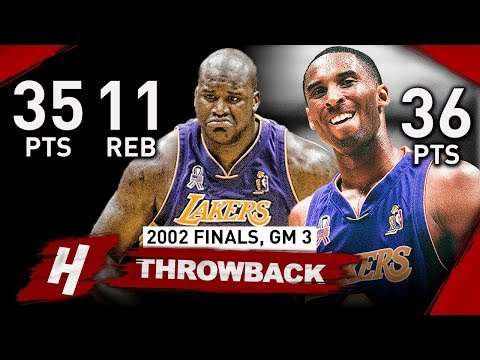 Kobe Bryant & Shaquille O'Neal EPIC Game 3 Full Highlights vs Nets 2002 Finals - 71 Pts Combined!