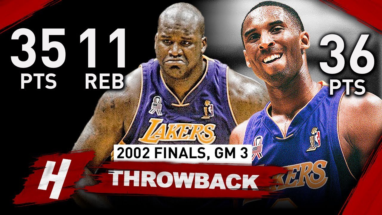 536d4f48d85 Kobe Bryant   Shaquille O Neal EPIC Game 3 Full Highlights vs Nets 2002  Finals - 71 Pts Combined!