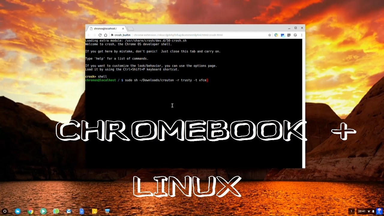 Installing Linux on a Chromebook with Crouton