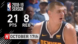 Nikola Jokic Full Highlights Nuggets vs Clippers 2018.10.17 - 21 Pts, 8 Reb