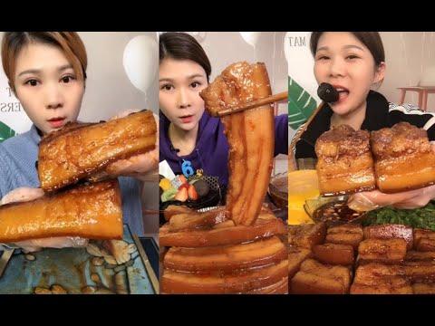 【Chinese food😍26】รวมคลิปคนจีนกินหมูสามชั้น🐷Chinese eat fat pork