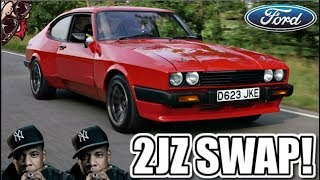 One of MONKY LONDON's most viewed videos:  SUPRA POWER! 2JZ TURBO SWAPPED FORD CAPRI REVIEW