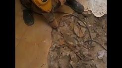 Probando martillos demoledores  Makita 0810 T . Dewalt p 25899