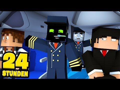 24 STUNDEN als FLUGBEGLEITER ARBEITEN?! - Minecraft [Deutsch/HD]