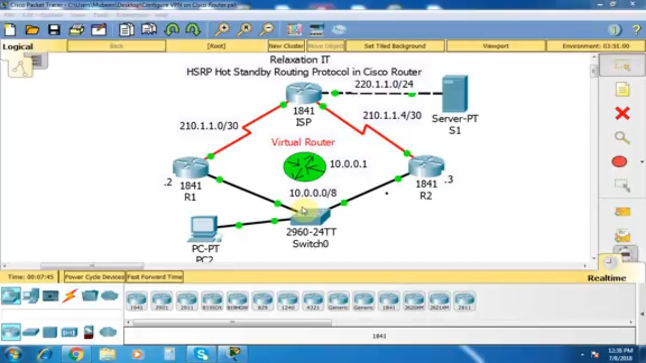 Hsrp Hot Standby Routing Protocol In Cisco Router Part 25 Ccna