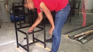 Custom chair - steel & rustic pallet wood