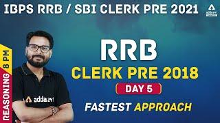 IBPS RRB/SBI Clerk 2021 | Reasoning #5 | RRB Clerk Pre Previous Year Question Paper 2018