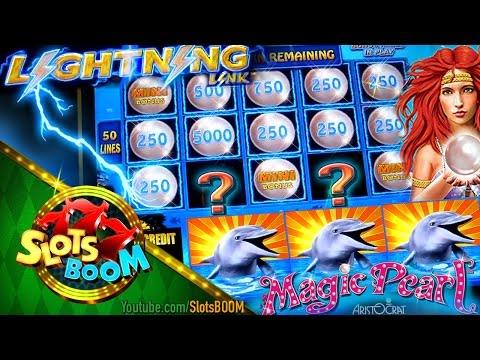 Magic Pearl Bonuses & Lightning Link Feature !!! Aristocrat Video Slot